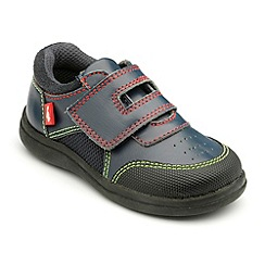 Chipmunks - Boys navy leather Edwin shoes
