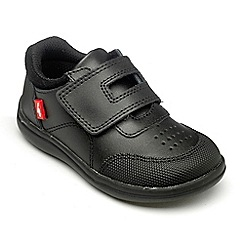 Chipmunks - Boys Edwin black leather school shoe