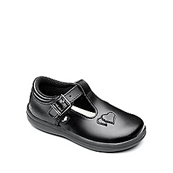 Chipmunks - Girls 'Esme' black leather school shoe