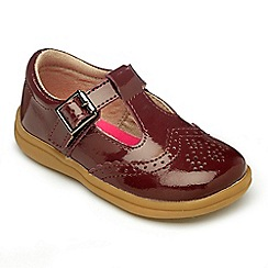 Chipmunks - Girls Eva burgundy leather shoe