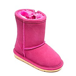 Chipmunks - Girls fuchsia 'Jersey' boot
