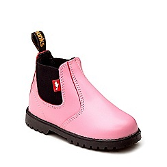 Chipmunks - Girls fuchsia leather jodhpur ankle boot