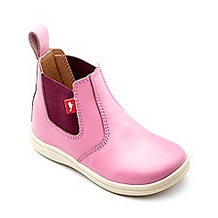 Chipmunks - Girls' pink metallic leather 'Callie' boot