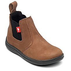 Chipmunks - Boys 'Callum' boot in tan nubuck leather