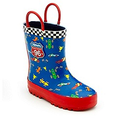 Chipmunks - Boys blue stirling print wellies