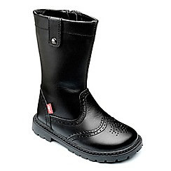 Chipmunks - Girls black leather 'selena' boot
