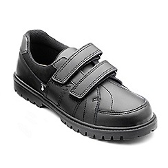 Chipmunks - Boys black 'peter' leather shoe
