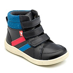 Chipmunks - Boys navy leather 'jenson' boot
