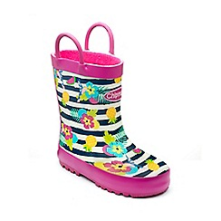 Chipmunks - Girls multi 'Carmen' wellies