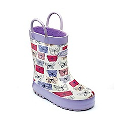 Chipmunks - Girls multi 'Marissa' wellies