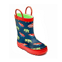 Chipmunks - Boys navy 'Freddie' wellies