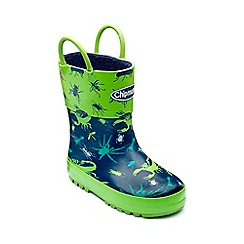 Chipmunks - Boys navy 'Bugsy' wellies