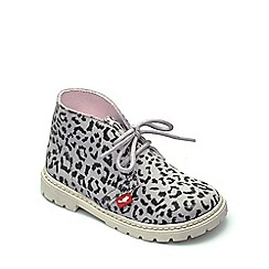 Chipmunks - Girls' leopard print suede 'Chloe' boot