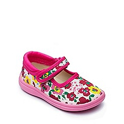 Chipmunks - Girls' floral canvas 'Scarlett' shoe