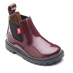 Chipmunks - Girls' burgundy 'Ranch' boots