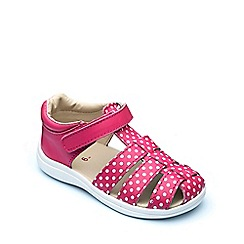 Chipmunks - Girls' fuchsia leather 'Mia' sandal