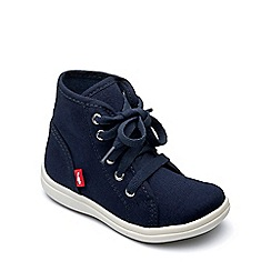 Chipmunks - Boys' navy canvas 'Hunter' boot