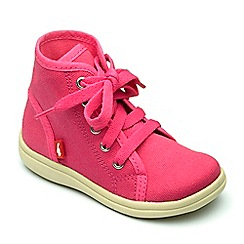 Chipmunks - Girls' fuchsia canvas 'Hunter' boot