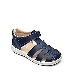 Chipmunks - Boys' navy leather 'Noah' sandal