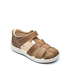 Chipmunks - Boys' tan leather 'Noah' sandal