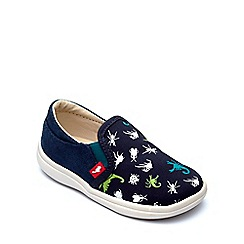 Chipmunks - Boys' navy canvas 'Scorpio' shoe