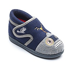 Chipmunks - Boys' navy grey 'Robot' slipper