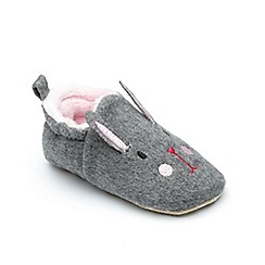Chipmunks - Baby girls' grey 'Lottie' slipper