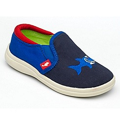 Chipmunks - Boys 'Shark' navy canvas shoe