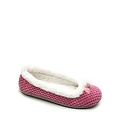 Freestep - Pink textile ladies slipper