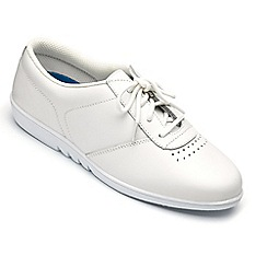 Freestep - Freestep ladies 'treble' shoe in white leather