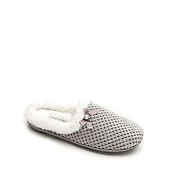 Freestep - Grey textile ladies slipper mule