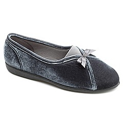 Freestep - Charcoal textile ladies slipper