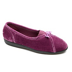 Freestep - Heather textile ladies slipper