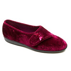 Freestep - Plum textile ladies slipper