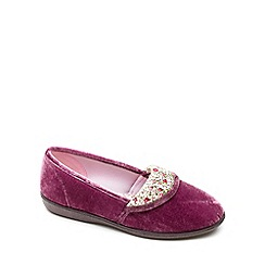 Freestep - Heather textile 'Mavis' ladies slipper