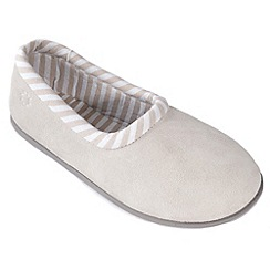 Freestep - Nude suede ladies full slipper