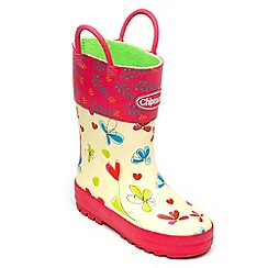 Chipmunks - Girls floral pattern welliess