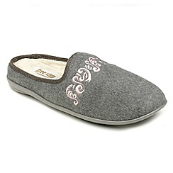 Freestep - Grey felt ladies slipper