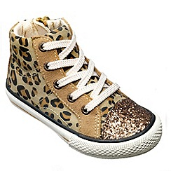 Chipmunks - Girls leopard 'Florida' ankle boot