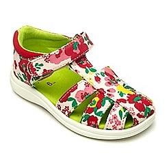 Chipmunks - Girls floral Freda canvas sandal