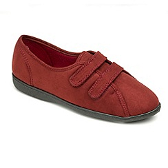 Freestep - Red microsuede ladies slipper