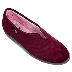 Freestep - Wine corduroy ladies slipper