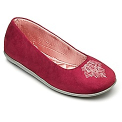 Freestep - Cerise microsuede ladies slipper