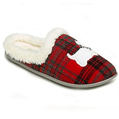 Freestep - Red textile ladies slipper