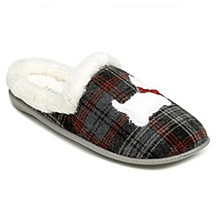 Freestep - Grey textile ladies slipper
