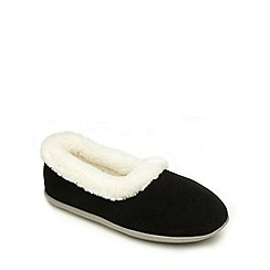 Freestep - Navy suede ladies slipper