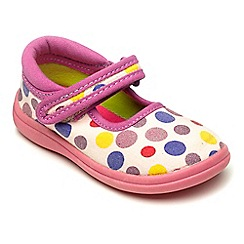 Chipmunks - Girls pink Hope canvas shoe