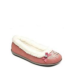 Freestep - Pink suede ladies slipper