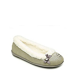 Freestep - Grey suede ladies slipper