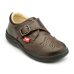 Chipmunks - Boys brown leather Jacob shoes